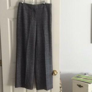 Fully lined wool tweed pants
